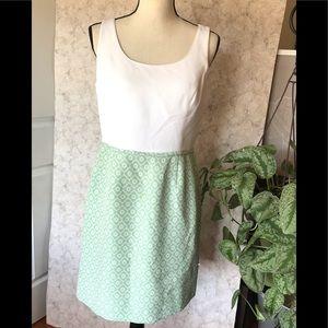 Tahari Arthur S Levine Pattern Empire Waist Dress